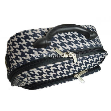 Houndstooth EVA make-up tas met kunststof hengsel