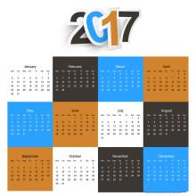Impression de calendrier murale sur mesure de 2017 Fancy Design
