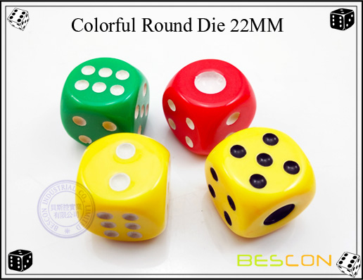 Colorful Round Die 22MM