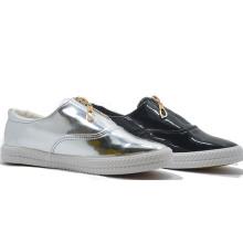 Hot Mirror PU Zipper Fathion Casual Studeng Sports Shoes