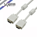 SIPU high quality brand 15m strandard Cu jacket PVC 3+4 vga cable