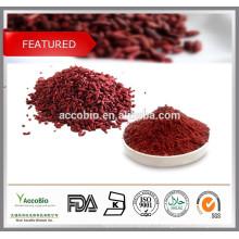 100% nature Levure de riz rouge poudre 5% Monacolin K, Lovastain