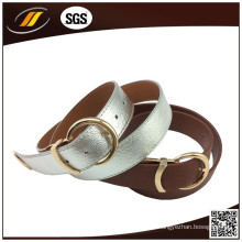China Fornecedor Customized Ladies Ladies Belt Leather with Pin Buckle