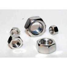 Custom metal stainless steel hex lock nuts