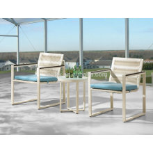 white aluminum outdoor patio furniture resin wicker chairs set of 2