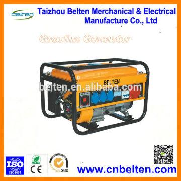 3000W Generadores portátiles eléctricos de bajo voltaje de 24V DC con ruido BAJO RPM de 3 fases con ruedas