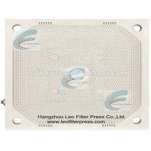 Plaques de presse de filtre de presse de filtre de Leo, plaques filtrantes de membrane de Leo pour l'opération de presse de filtre de plat de membrane