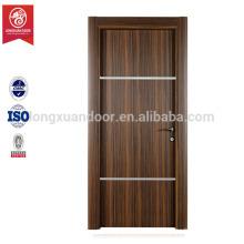 Nuevo diseño mdf PVC puerta de dormitorio de madera precio