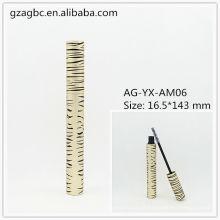 Elegante & vazio alumínio redondo tubo de rímel AG-YX-AM06, embalagens de cosméticos do AGPM, cores/logotipo personalizado