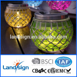 Holiday Decorative XLTD-513-3 glass mosaic solar lights for garden