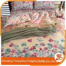 Hot sale 100 polyester customized wedding bed sheet