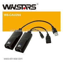 Usb 2.0 Erweiterung Ethernet lan Adapter, USB 2.0 Verlängerungskabel, 4 USB Geräte Kabel