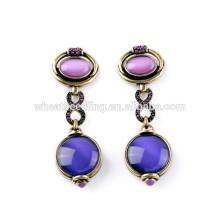 Los pendientes coreanos del nuevo diseño de la joyería púrpura superventas de la manera de la joyería