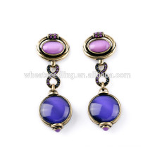 best selling sparkle purple jewelry fashion korean new design earrings