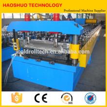 Máquina formadora de rollos lineal para fabricación de techos de metal y paneles sándwich