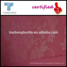 broderie aspect solide couleur rose coton élasthanne armure sergée imprimé tissu spandex