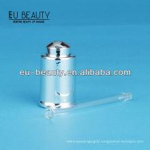 UV coating shiny silver Glass dropper 18/400