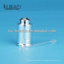 UV revestimento prata brilhante Conta-gotas de vidro 18/400
