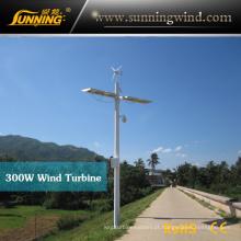 turbina eólica de acampamento solar híbrida do sistema 300W do vento da fora-Grade