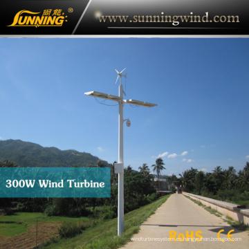 2015 300W que acampa la turbina de viento para supervisar al aire libre