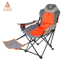 Cadeira de Campismo Quad Outdoor com apoio para os pés ajustável