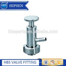 Válvula de amostra de aço inoxidável sanitária de qualidade alimentar