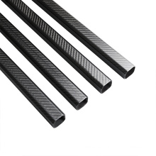 T700 Glossy Plain 6K Tubo de fibra de carbono al por mayor