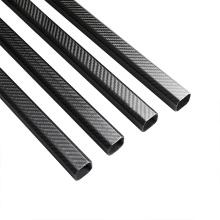 Vente en gros de tubes en fibre de carbone 6K brillants T700