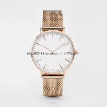 Relojes de pulsera de malla para hombre de acero inoxidable ultra delgados de malla