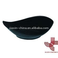 Tazón de fuente de porcelana color negro JX-31B