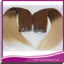 Wholesale hair for weaving:100 percent brazilian hair weaving,two tone curly hair weaving