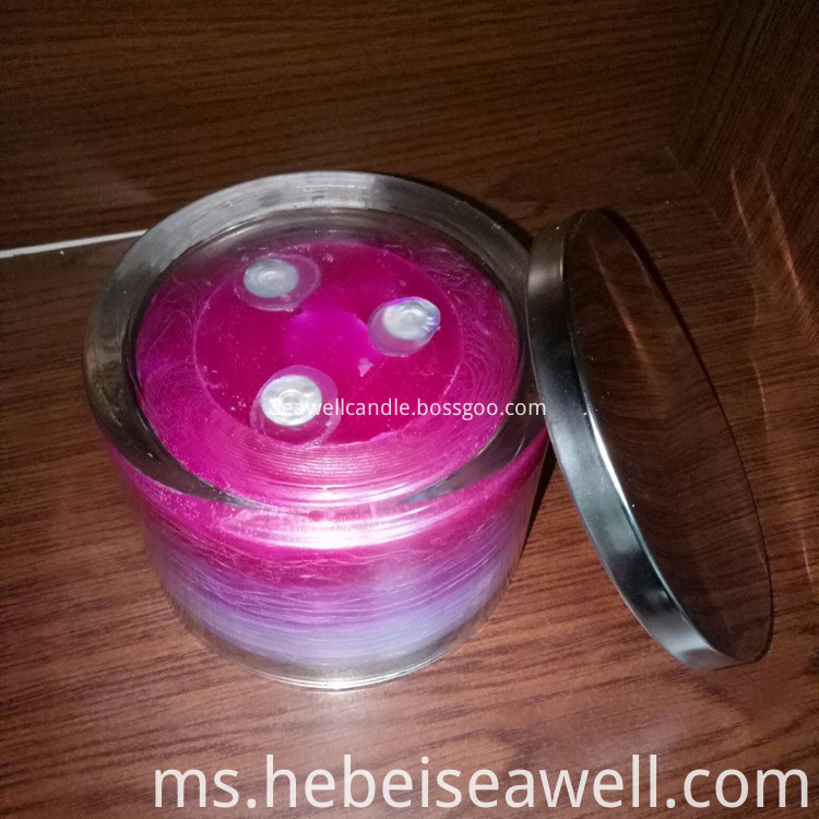 3 Wick Candles Same Color Shade Candles (2)