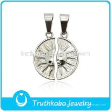 """TKB-JP0164 """"Você é sempre minha luz do sol"""" sol único deus casal jóias pingente amantes de aço inoxidável"""