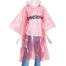 Disposable Plain Color PE Rain Poncho