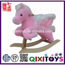Alta qualidade crianças brinquedo de pelúcia cavalo de balanço