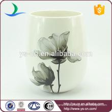 YSwb0010-02 Elegancia calcomanía baño de cerámica basura fábrica