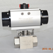 high pressure ball valve with pneumatic actuator