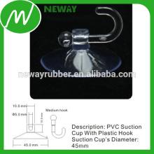 Ventosas de mesa de vidrio de 45 mm con gancho de plástico