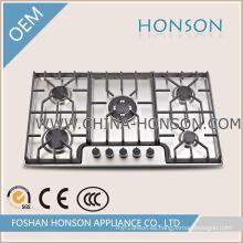 Cocina de gas de acero inoxidable con buena calidad