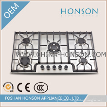 RoHS Best Cooking Stainless Steel Gas Hob with Burner 110V-220V