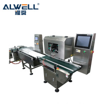 High quality speed automatic online food boxes weighing labeling machine