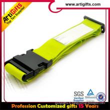Étiquette de bagage de lanière de tube de polyester avec la courroie claire de silicium