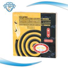 Bobina de mosquito preta de 130mm com óleo essencial de citronela / bobina de mosquito