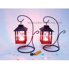 Suporte de vela de moda do suporte do ferro com luz do chá
