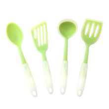Sistema colorido del utensilio de la cocina del silicón de la categoría alimenticia del FDA