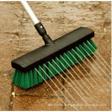 BSCI deachable handle flow water garden broom, PAHS deck brush for garden and outdoors, garden brush for floor cleaner