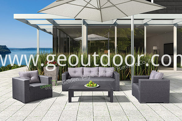 garden aluminium 4 piece sofa set