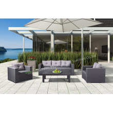 Garden+Aluminum+4+Piece+Sofa+Chat+Set