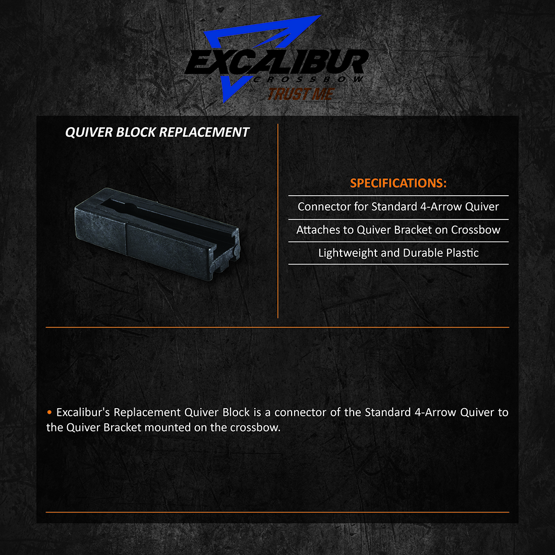 Excalibur_Quiver_Block_Replacement_Product_Description
