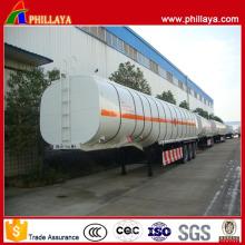 Diverses capacités Tri Axle Gooseneck Type Inoxydable Fuel Tanker Trailer